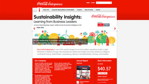 Coca Cola Enterprises Corporate Website