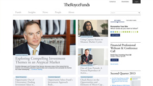 The Royce Funds Website Redesign